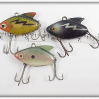 Heddon Sonic Lot Of Three: Shad, Perch, & Black