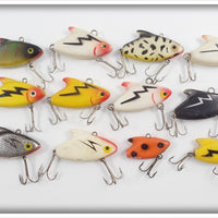 Unknown Heddon Sonic Look Alike Lot Of Twelve
