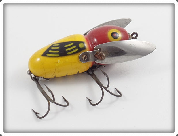 Heddon Yellow Red Head Crazy Crawler