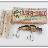 Heddon Pike Scale Jointed River Runt In Box