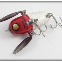 Heddon Red & White Shore Plastic Crazy Crawler In Correct Box