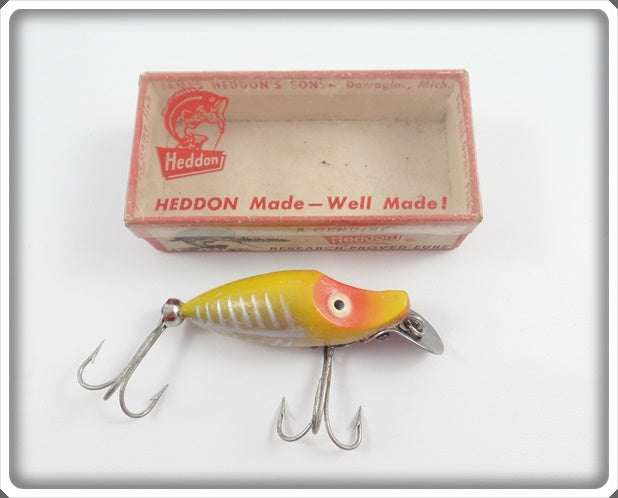 Heddon Yellow Shore Midget River Runt In Correct Box