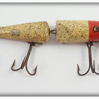 Pflueger Red & White W/Glitter Jointed Palomine