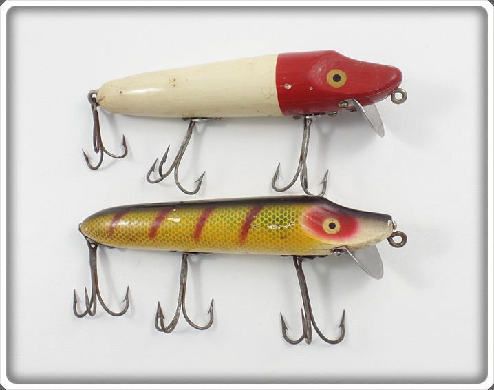 Heddon Wood Vamp Pair: Red/White & Perch