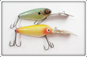 Heddon Deep 6 Pair: Green Shad & Yellow Scale