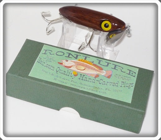 Ron Lure Heirloom Quality Hand Carved Plugs Jitterbug Type In Box