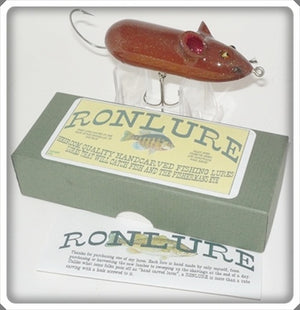 Ron Lure Heirloom Quality Handcarved Fishing Lure Mouse In Box