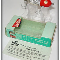 Heddon Red Head Flitter Tiny Torpedo In Box