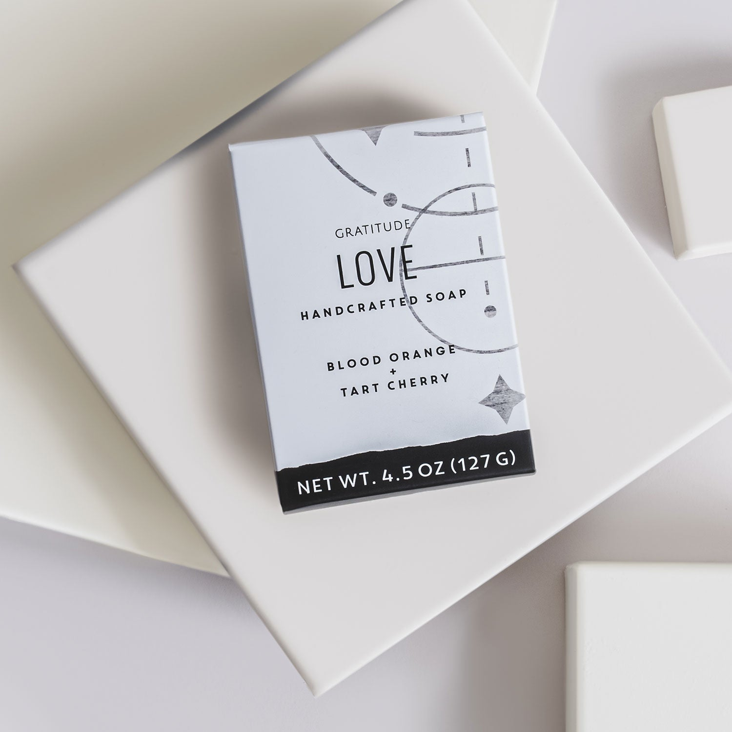 box of love soap on a white background