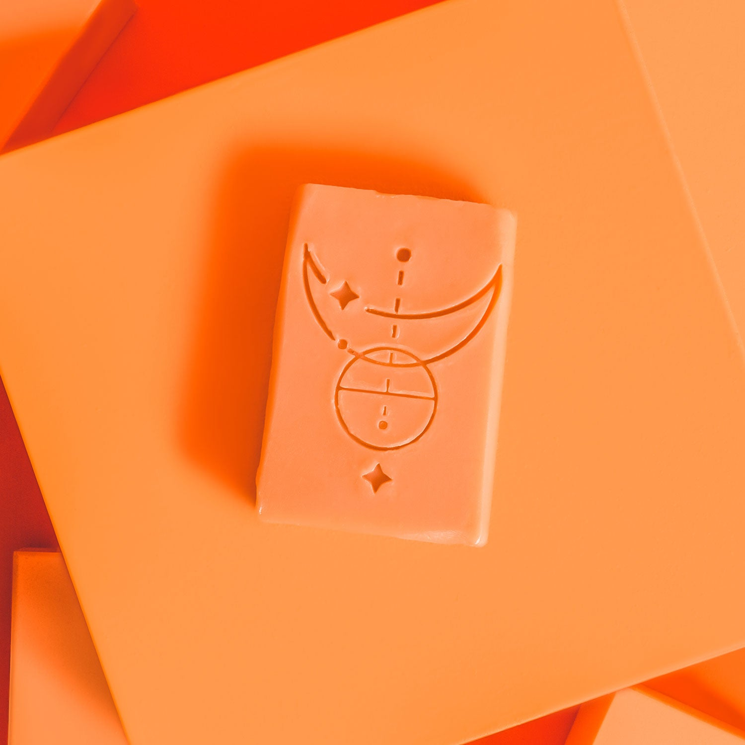 bar of Radiance soap on an orange background