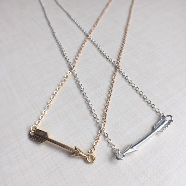 Affordable necklace - the Cupids Arrow