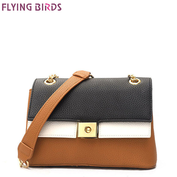 355dd89ee1 FLYING BIRDS Panelled Bags Lock Women Messenger Bags Female handbags famous  brands all-match Tote
