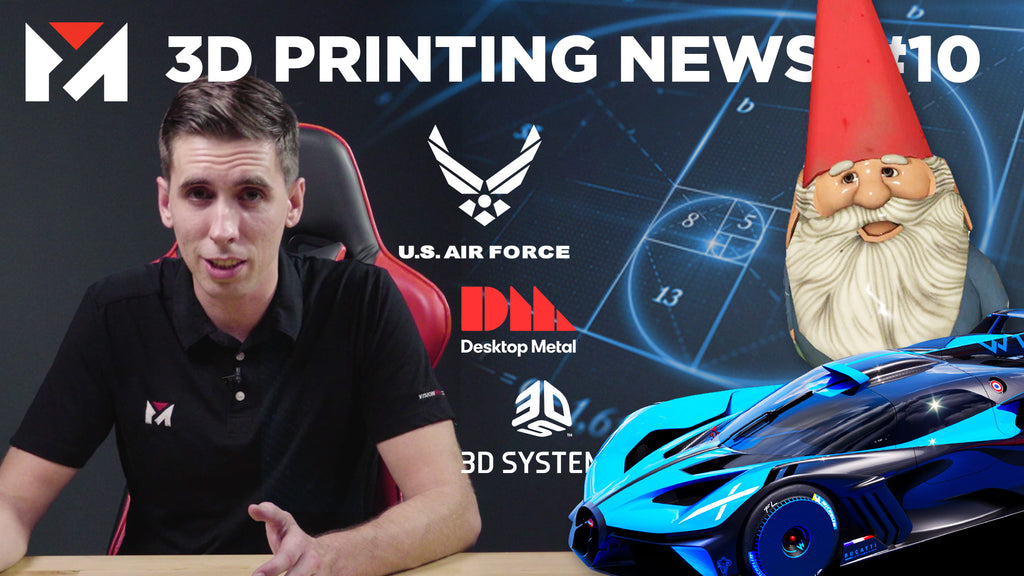 Bugatti 3D Prints The Bolide, Valve Goes to Space, Desktop Metal Live Sinter & more!