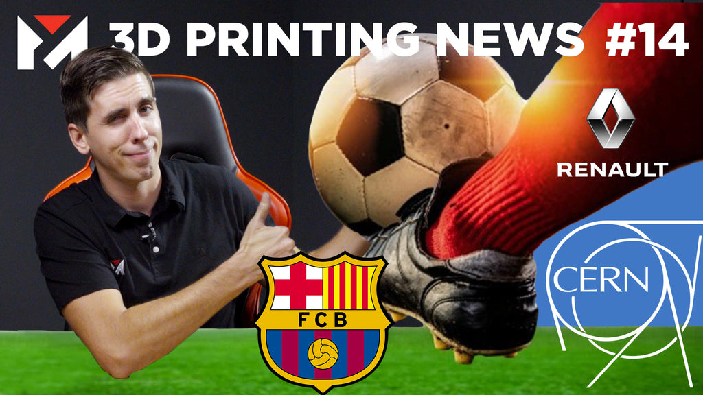 FC Barcelona 3D Printed Ankle, Renault Adopts 3D Printing, Large Hadron Collider 3D Printed Parts