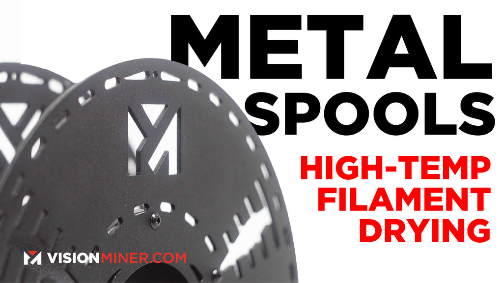 Metal Spools for Dehydrating Filament: Dry your PEEK and ULTEM Effectively!