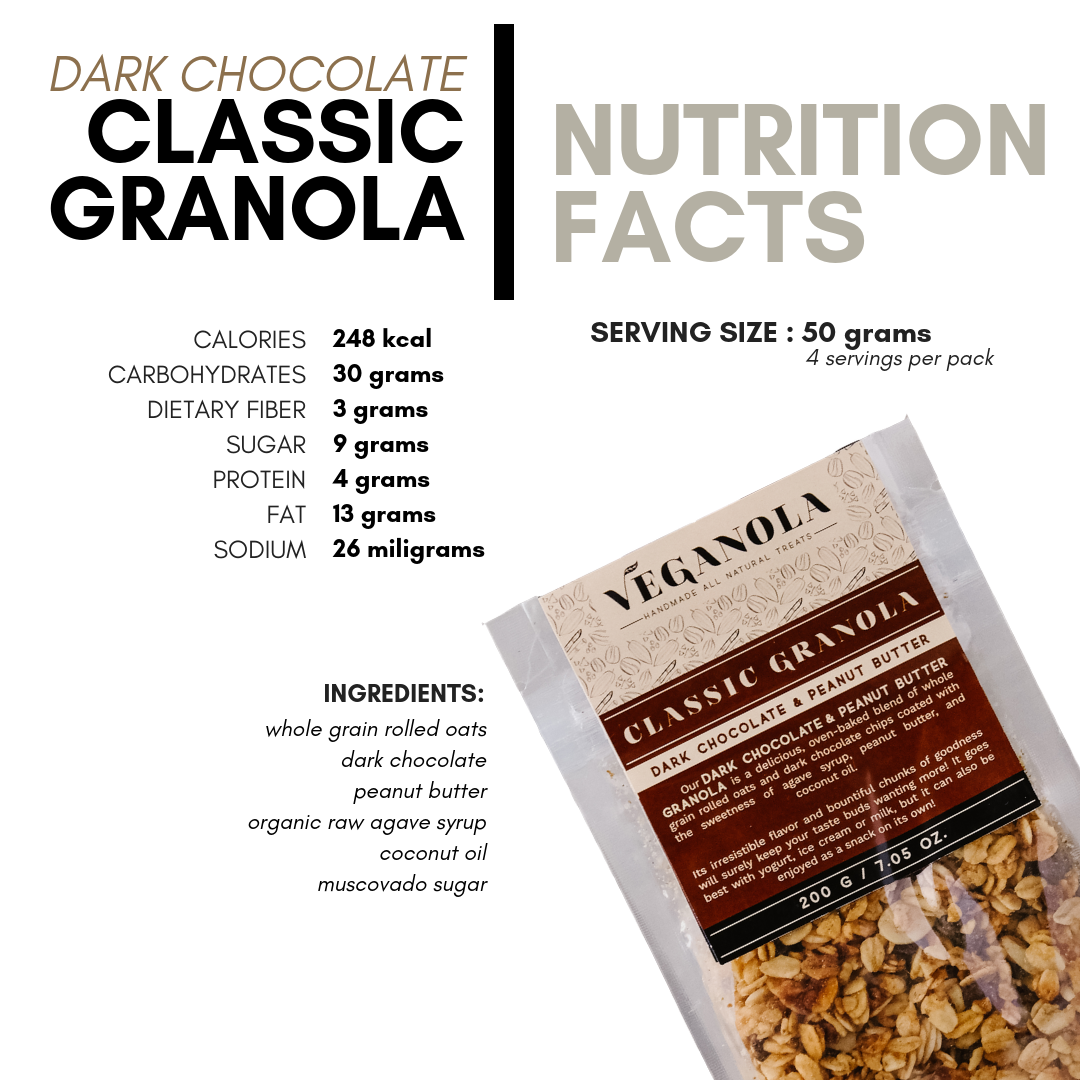 Classic Granola - Dark Chocolate and Peanut Butter