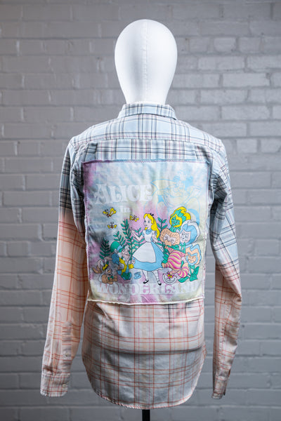 "1 of 1 ""Alice Wonderland"" Flannel (Small)"