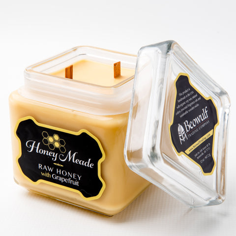 Honey Meade Candle - Raw Honey & Grapefruit - Double Wooden Wick 32 Oz