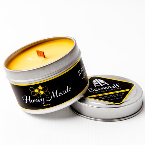 Honey Meade Candle - Raw Honey & Grapefruit - Wooden Wick 4 Oz