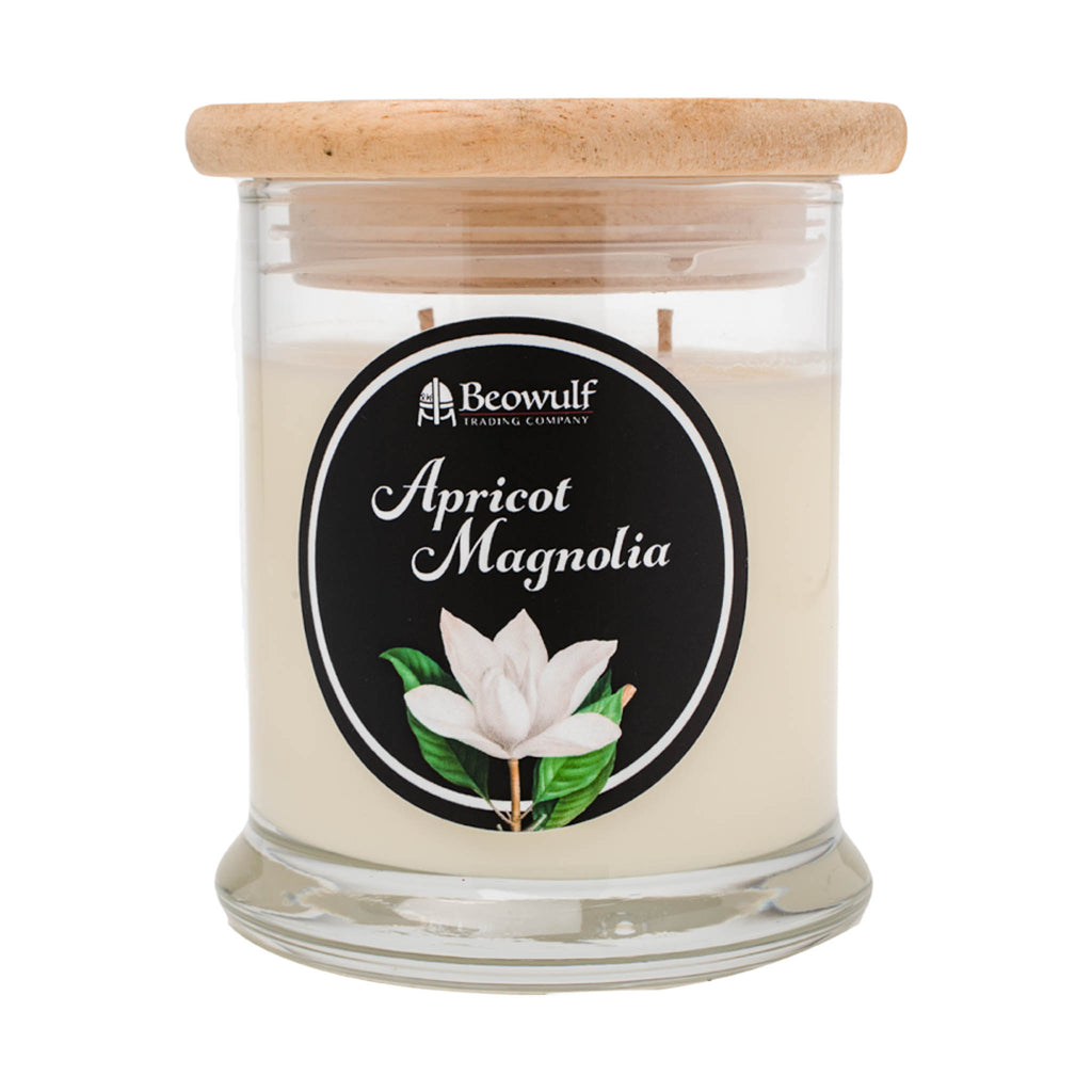 white flower candle soy magnolia scented candle