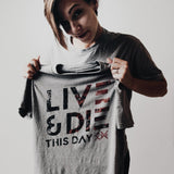 Short Sleeve Tee Shirt - Live and Die this Day - Tri-Blend