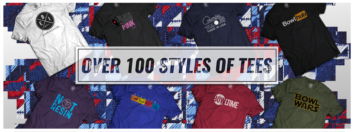 Over 100 Styles of Bowling T-Shirts
