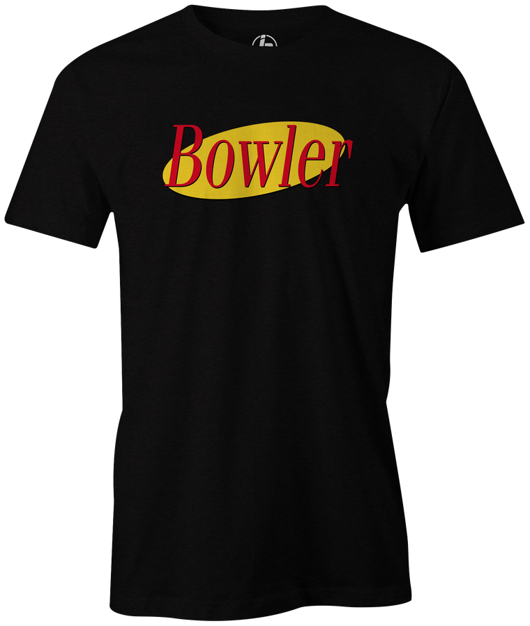 Bowler Men's T-Shirt, Black, bowling, funny, cool, vintage, novelty, television, tv show, tee, t shirt, t-shirt, tees, t,, Seinfeld,, league bowling team shirt, tournament shirtt