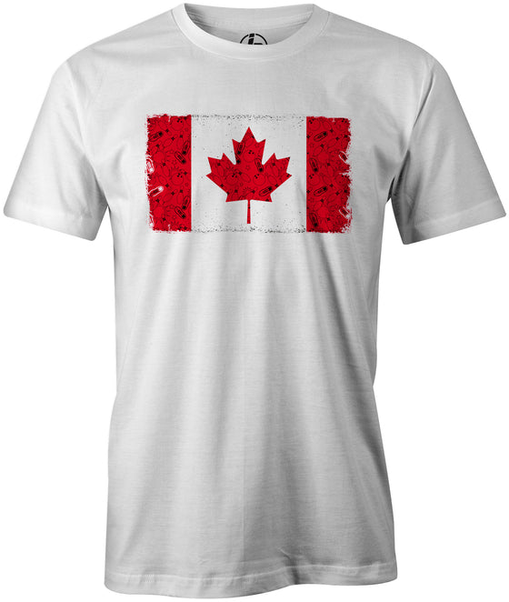 Canada Bowling Men's T-shirt, White, tshirt, tee, tee-shirt, support, team, pride, country, sport