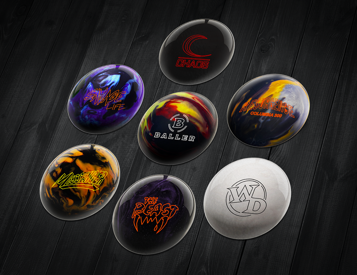 Columbia 300 Stickers, Bowling Stickers, Ball Stickers