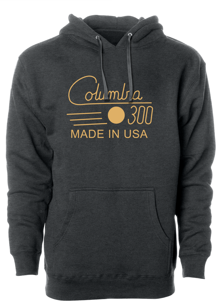 Columbia 300 Hoodie, Charcoal Hoodie, Columbia 300 vintage hooded sweatshirt