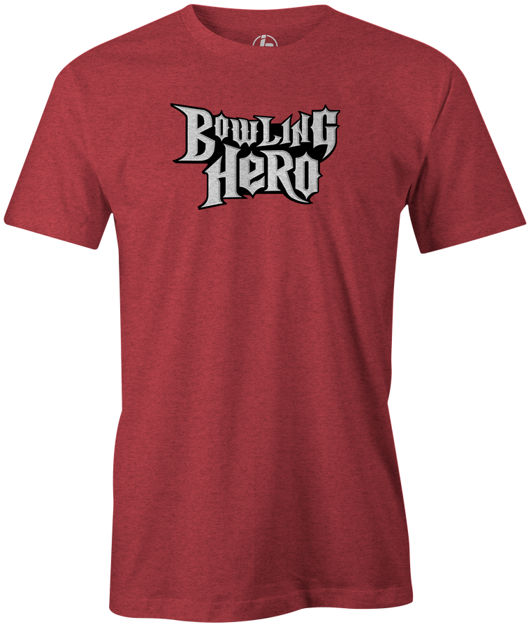 Bowling Hero Men's T-shirt, Red, tee-shirt, tee, Tshirt, bowler, guitar hero