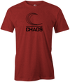 Black Chaos Bowling T-Shirt Columbia 300 Red