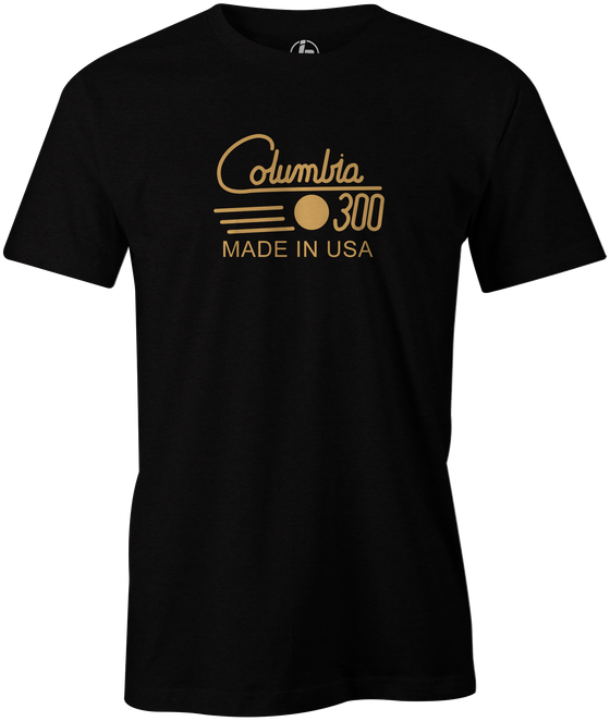 Columbia 300 Retro Men's T-Shirt, Black Vintage, tshirt, tee, tee-shirt, tee shirt, retro, cool, bowling ball