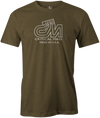Critical Mass Men's T-shirt, Army Green, Bowling, Track, bowling ball, tee, tee shirt, tee-shirt, tshirt, vintage, retro, cool