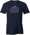 Critical Mass Men's T-shirt, Navy, Bowling, Track, bowling ball, tee, tee shirt, tee-shirt, tshirt, vintage, retro, cool