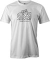 Critical Mass Men's T-shirt, White, Bowling, Track, bowling ball, tee, tee shirt, tee-shirt, tshirt, vintage, retro, cool