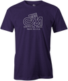Critical Mass Men's T-shirt, Purple, Bowling, Track, bowling ball, tee, tee shirt, tee-shirt, tshirt, vintage, retro, cool