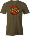 Drink & Bowl Pop Culture Bowling T-Shirt Army Green