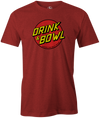Drink & Bowl Pop Culture Bowling T-Shirt Red