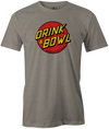 Drink & Bowl Pop Culture Bowling T-Shirt Gray