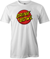Drink & Bowl Pop Culture Bowling T-Shirt White