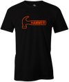 Hammer Logo Men's T-Shirt, Black, Bowling, Tshirt, tee, tee-shirt, tee shirt, classic, bowling ball. black widow. purple hammer.