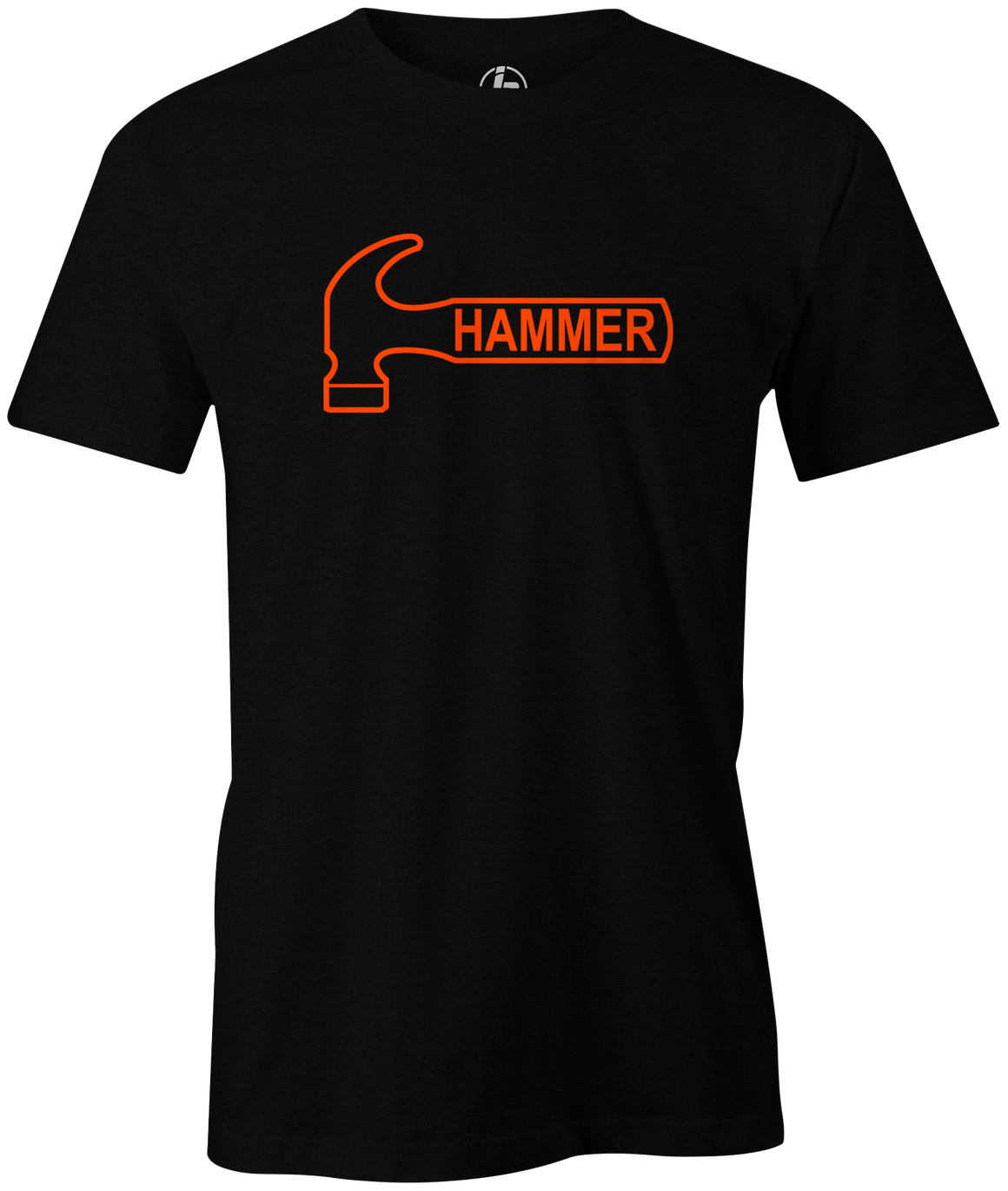 Hammer Logo Men's T-Shirt, Charcoal, Bowling, Tshirt, tee, tee-shirt, tee shirt, classic, bowling ball. black widow. purple hammer.
