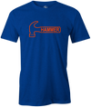 Hammer Logo Men's T-Shirt, Blue, Bowling, Tshirt, tee, tee-shirt, tee shirt, classic, bowling ball. black widow. purple hammer.
