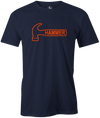 Hammer Logo Men's T-Shirt, Navy, Bowling, Tshirt, tee, tee-shirt, tee shirt, classic, bowling ball. black widow. purple hammer.