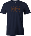 Kinetic Men's T-Shirt, Navy, bowling, bowling ball, track bowling, smart bowling, tshirt, tee, tee-shirt, tee shirt