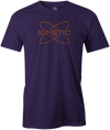 Kinetic Men's T-Shirt, Purple, bowling, bowling ball, track bowling, smart bowling, tshirt, tee, tee-shirt, tee shirt