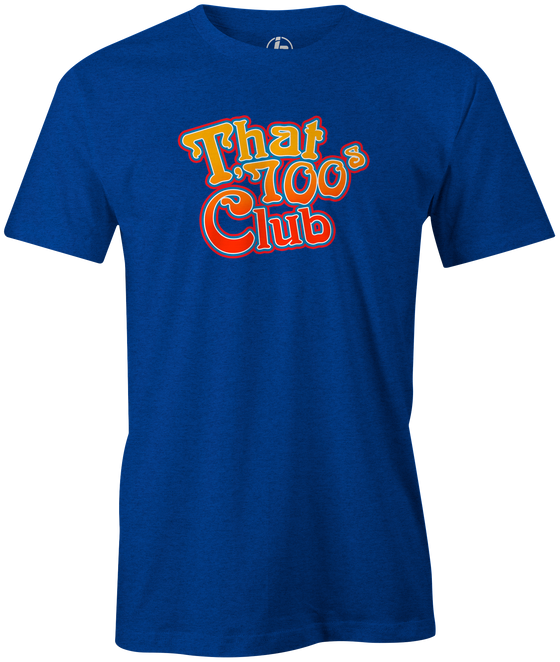 That 700's Club Bowling T-Shirt AznTheBowler Blue