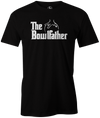 The Bowlfather Men's T-shirt, Black, cool, movie, the godfather, funny, vintage, classic, movie, tee, t-shirt, t shirt, tees, tee-shirt, league bowling team shirt, tournament shirt