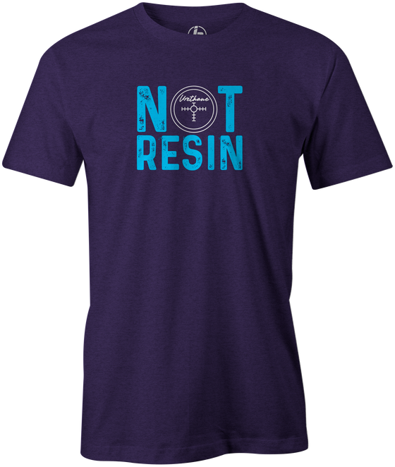 Not Resin Men's T-Shirt, Purple, Funny, bowling, tshirt, tee, tee-shirt, tee shirt, urethane, purple hammer, black hammer, hammer bowling, faball, old school, cool.